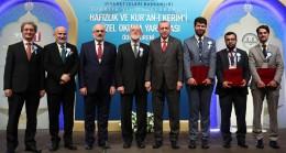 Erdoğan, Hafızlık ve Kur'an-ı Kerim'i Güzel Okuma Yarışmaları ödül töreninde