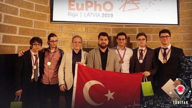 Fizik Olimpiyat Takımımız Avrupa 1.'si