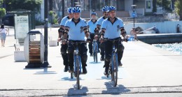 Başkan Aydın'dan bisikletli zabıta ekibi