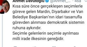 Ahmet Davutoğlu'nun safı netleşti