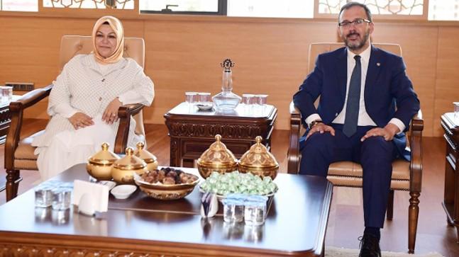 Bakan Kasapoğlu'ndan Başkan Şeyma Döğücü'ye ziyaret
