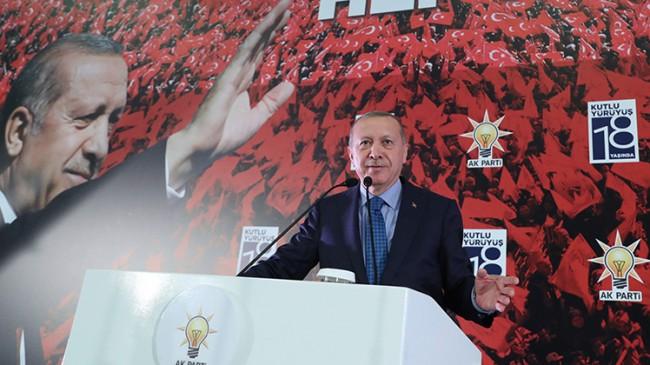 Başkan Erdoğan'dan kongre çıkışı