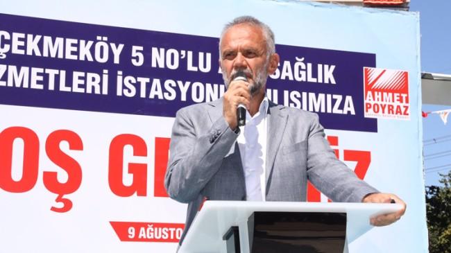"""Başkan Poyraz, """"İlçemize sağlık ve eğitim hizmetlerimiz devam edecek"""""""