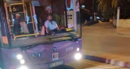 Otobüs şoförü yolcu ile kavga etti