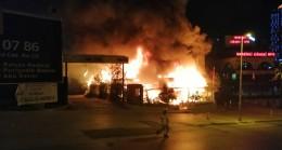 Ataşehir'de iş yeri cayır cayır yandı