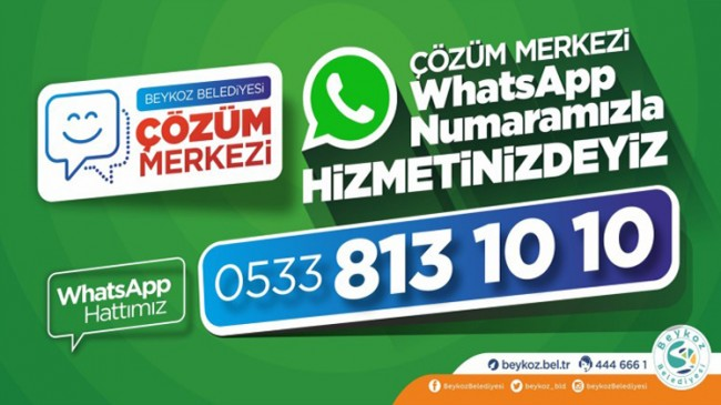 Beykoz Belediyesi'nden WhatsApp hizmeti