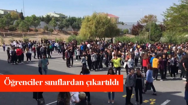 Depremden okul ve işyerleri boşaltıldı