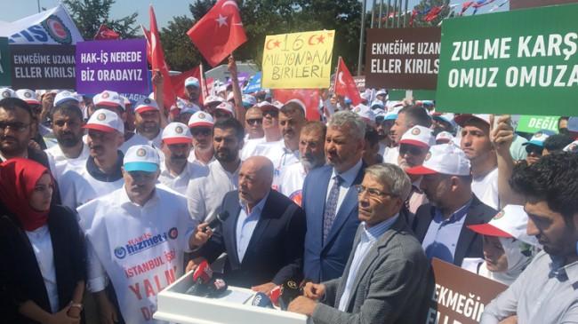 HAK-İŞ, İBB mağdurlarına destek verdi