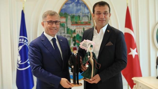 İBB Başkanı Ekrem İmamoğlu Başkan Hilmi Türkmen'i ziyaret etti