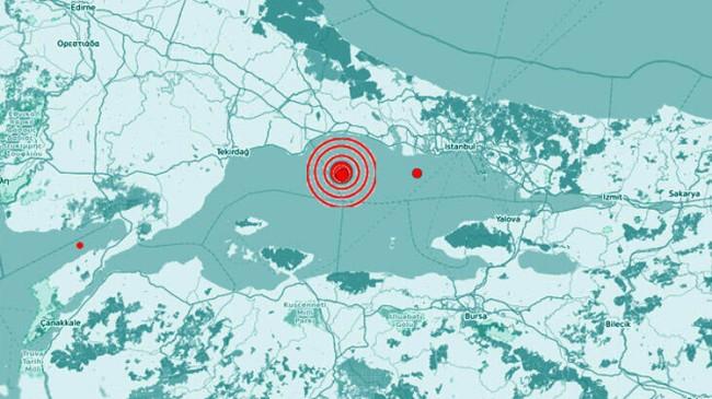 İstanbul'da deprem kuvvetli hissedildi