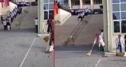 Kadıköy Anadolu Lisesi'nde nimete saygısızlık!