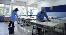Pendik'te okullar baştan aşağı temizleniyor