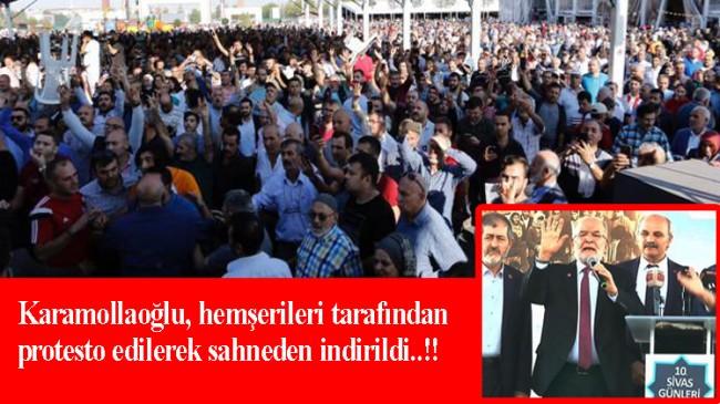 """Temel Karamollaoğlu, Sivaslılar gününde """"Hainler dışarı"""" diye protesto edildi!"""