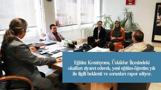 Üsküdar İlçe Eğitim Komisyonu'nun okul ziyaretleri sürüyor