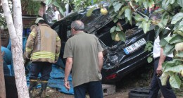 Üsküdar'da şoför bahçeye uçtu