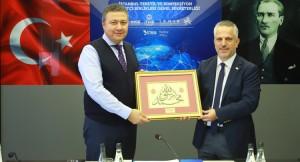BATİAD Başkanı Ateş, İTHİB Başkanı Öksüz'ü ziyaret etti
