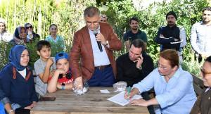 Başkan Türkmen, İmrahor ve Kuzguncuk Bostanları ekimi için kuraları çekti