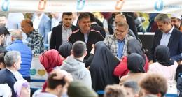 Başkan Türkmen'e Nakkaştepe Millet Bahçesi'nde Üsküdarlılardan yoğun ilgi