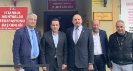 Esat Kalay ve Üsküdarlı muhtarlardan Başkan Delibalta'ya ziyaret