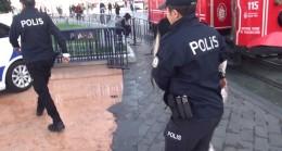 Alkollü kadın, Taksim'i birbirine kattı!