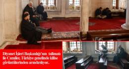 Fatih camiindeki kilise oturakları kaldırıldı