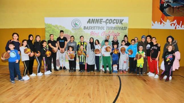 Anne-Çocuk Basketbol Turnuvası renkli görüntülere sahne oldu