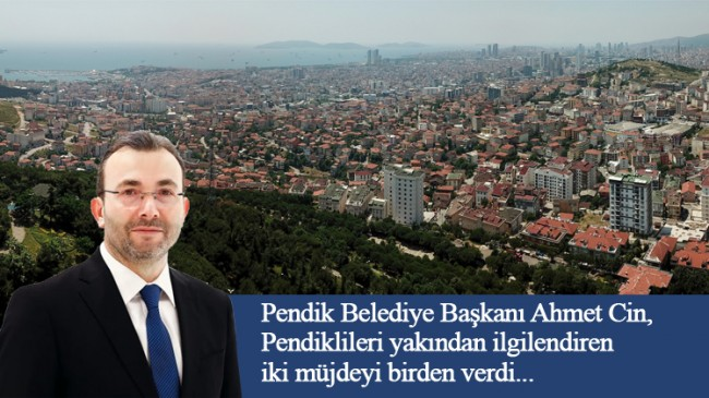 Başkan Ahmet Cin'den 2 müjde birden