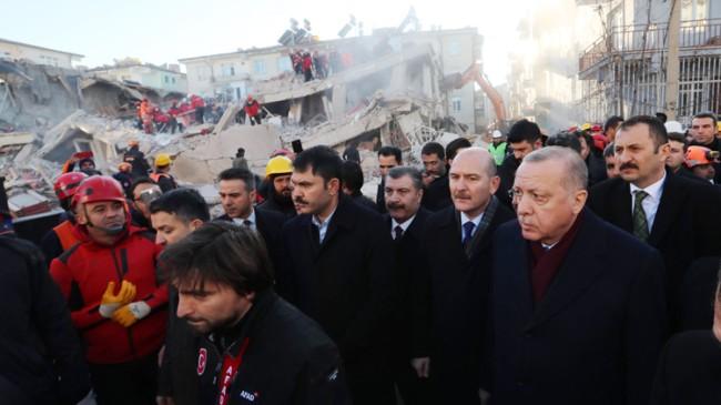 Başkan Erdoğan deprem bölgesinde