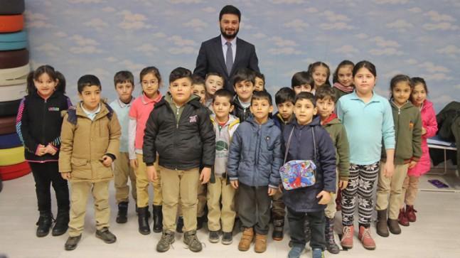 Başkan Öztekin, çocuklara müjdeyi verdi