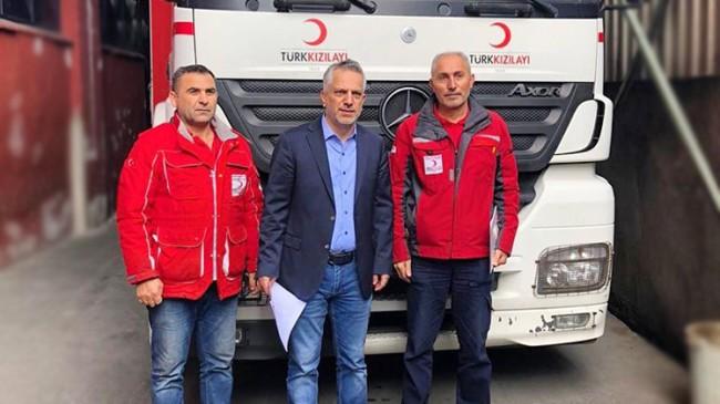 BATİAD ve İTO Meclis Üyeleri'nden depremzedelere tekstil yardımı