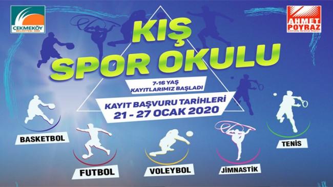 Çekmeköy'de Kış Spor Okulları başlıyor