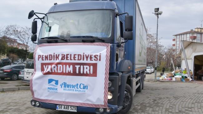 Elazığ'daki depremzedeler için yardımlar Pendik'ten yola çıktı
