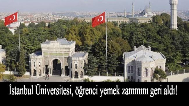 İstanbul Üniversitesi'nden geri adım!