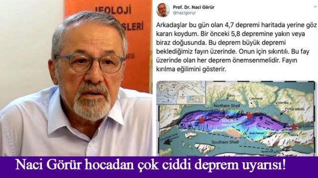 """Naci Görür'den """"Büyük İstanbul Depremi"""" ile ilgili sıkıntılı paylaşım!"""
