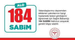 Yakınlarına ulaşmak isteyenler, 184 SABİM Hattını arayabilirler