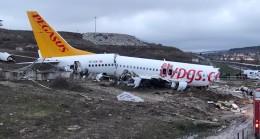 Parçalanan uçağın gündüz görüntüsü