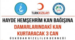 RİDEF ve Üsküdar Rizeliler Derneği'nden kan kampanyası