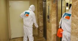 Çekmeköy Belediyesi, asansörleri de dezenfekte ediyor