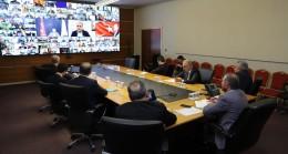 Kandemir, il başkanları ile video konferansla toplantı yaptı