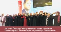 Ümraniye'de mahalle danışma meclisinde bordo başörtülü kadınlar dikkat çekti!