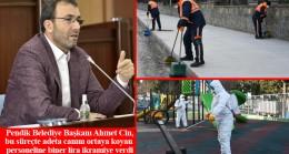 Başkan Cin'den Pendik Belediyesi'nin görünmeyen kahramanlarına biner lira