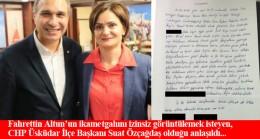 """CHP Üsküdar İlçe Başkanı Suat Özçağdaş, """"Şehir Eşkıyası"""" mı?"""