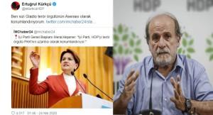 """HDP'li Kürkçü, Meral Akşener'e """"Gladio terör örgütünün Asenası"""" dedi!"""