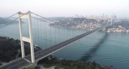 İstanbul Boğazı ve köprüler sessiz