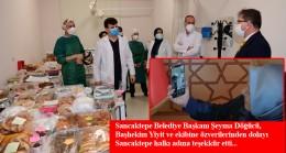 Sancaktepe Belediyesi'nden sağlık çalışanlarına el emeği yemek ikramı