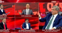 Davutoğlu ile Karahasanoğlu arasında canlı yayında sert tartışma çıktı