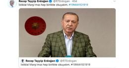 Erdoğan, İstiklal Marşı'nı okudu