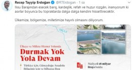 Erdoğan'dan gurur verici paylaşım