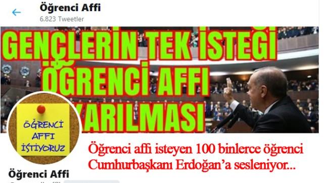 Öğrenci Affı bekleyen gençler, Cumhurbaşkanı Erdoğan'dan umutlu