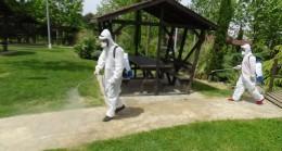 Sancaktepe Belediyesi, parkları ve yeşil alanları dezenfekte etti